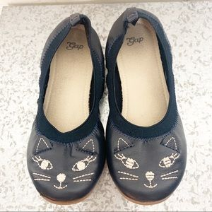 Gap Girls galaxy blue kitten ballet flats Size 1